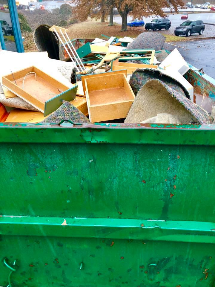 Dumpster at Athentic Brewing Co. during renovation