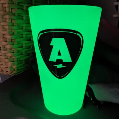 glow in the dark pint glass